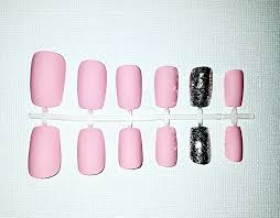 pink matte fake nail set press on nails glue on nails acrylic