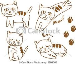 clip art vector of cute cat csp15582365 search drawings and