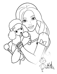Barbie And Puppy Coloring Page Coloring Pages Guru Puppy Color Pages