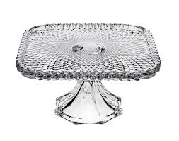 Crystal Pedestal Cake Stand Glass Cake Plates Red Clear And Few Others Collection On Ebay