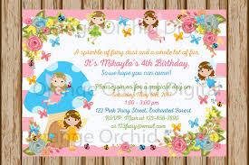 fairy birthday invitations enchanted garden birthday fairy