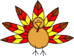 thanksgiving small turkey clipart