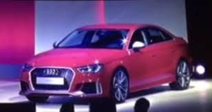 audi rs 3 sedan u s bound audi rs 3 sedan shown during dealer presentation