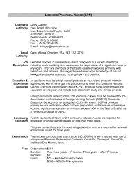Nursing Template Resume Lpn Resume Sample Objective Nurse Examples Summary Cover