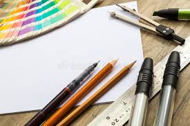 sketching tools stock photo image of creativity compass 48674352