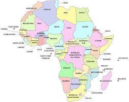 mapa de africa países de áfrica saber es práctico