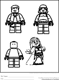 lego coloring pages starwars ginormasource kids