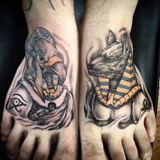 anubis egyptian foot tattoo design ideas 06 lava360