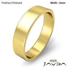 s plain wedding bands flat pipe cut ring 5mm s plain wedding band 18k yellow gold