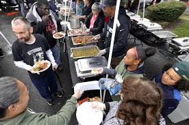 free barbecue satisfying thanksgiving meal for many the columbian