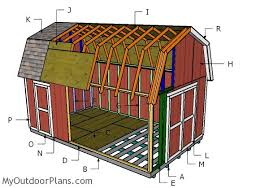 Free Barn Plans Building A 12x20 Gambrel Shed Outdoor Shed Plans Free