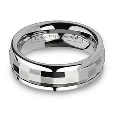 mens spinner rings tungsten carbide faceted spinner ring