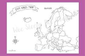Blank Europe Map Pdf by Etsy Sales Map Of Europe Colouring Page Digital Download Pdf