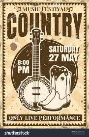 country music festival poster vintage style stock vector 568393726