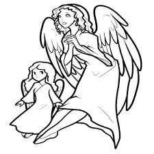 angel coloring page fabulous free angel coloring sheets printable