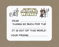 wars thank you cards wars fill in the blank thank you notes may the be