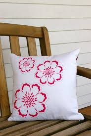 bedroom spectacular white woven pillow design for outdoor red