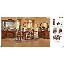 italian dining room sets esf leonardo 7 pieces traditional ivory finish
