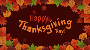 happy thanksgiving day typographic animated design template thank
