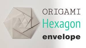 wedding invitation pouches origami hexagonal envelope pouch tutorial diy youtube