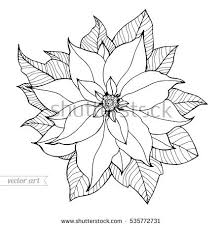 poinsettia coloring pages free coloring pages for adults download free vector art stock