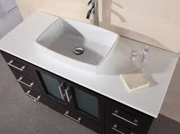 sand granite countertop with rounded undermount sink combined