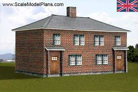 Row House Model - structure plans for all popular model railroad scales