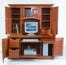 Amish Computer Armoire Amish Computer Hutch Top Amish Office Furniture Sugar Plum Oak