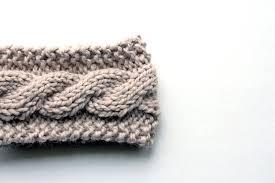 knitted headband pattern free friendship cable headband knitting pattern