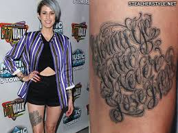 celebrity tattoos by norm will rise steal her style