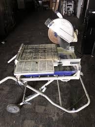 sliding table tile saw kobalt 10 in wet dry tabletop sliding table tile saw with stand