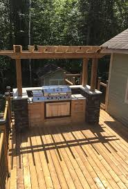 Outdoor Kitchen Against House Best 25 Bbq Island Ideas On Pinterest Outdoor Bbq Grills