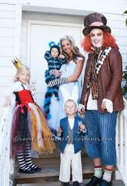 Mad Hatter Halloween Costumes Girls Coolest Homemade Wonderland Family Costume Alice Cheshire Cat
