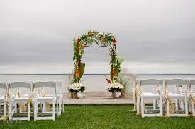 wedding arch kent silver swan bayside wedding photos kent island maryland
