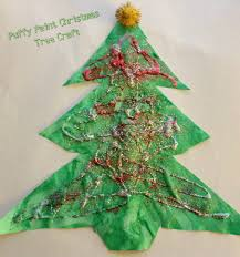 12 days of christmas crafts puffy paint christmas tree blooming