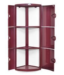 nilkamal corner cabinet 3d maroon buy nilkamal corner cabinet 3d