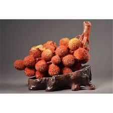 lychee fruit chinese shoushan stone branch lychee fruit cicada
