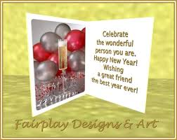 best new years cards second marketplace fda wishing a great friend a happy new