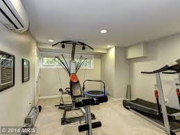 traditional home gym with carpet u0026 specialty door in baltimore md