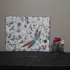 dragonfly painting wall art wall hanging dragonfly home decor