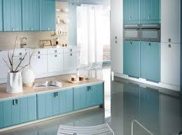 cuisine bleu ciel meuble cuisine bleu salon cuisine americaine deco cuisine ouverte