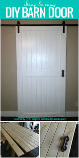 Dutch Barn Door by Remodelaholic Cheap U0026 Easy Diy Barn Door