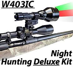 night hunting lights for scopes amazon com wicked lights w403ic deluxe night hunting kit with