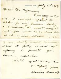 sincerely yours page 2 blogging hoosier history letter from theodore roosevelt to carl h eigenmann july 5 1918 sagamore hill