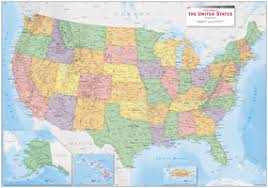 map of equator usa political wall map by equator maps from maps com