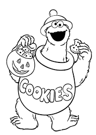 cookie monster lot cookies coloring pages coloring sky