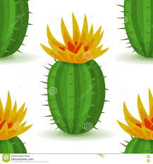 Cute Plant by Vector Cute Cactus With Flower Stock Vector Image 77580578