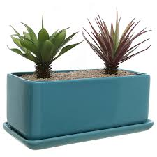 Succulent Planters For Sale by Amazon Com 10 Inch Rectangular Modern Minimalist Turquoise
