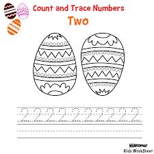 easter number trace worksheet crafts and worksheets for