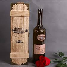 wine bottle gift box 10pcs portable wood wine box 1 bottle gift box winery packaging